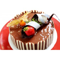 榛果巧克力蛋糕--6吋